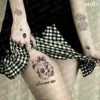 Wholesale temporary tattoo skull fairy skull waterproof body art tattoos stickers tattoo sticker