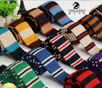 Wholesale polyester men s knitted casual tie neck tie