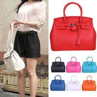 Wholesale 2015 women s big bags Hot Celebrity Girl Faux Leather Handbag Tote Shoulder Bags Woman HandBag Colro