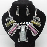 Earrings & Necklace Wedding Jewelry Sets Fashion designer brand high quality wedding jewelry sets costume vintage necklace and earrings sets for women free shipping