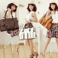 Shoulder Bags bead cross stitch - Women Fashion Retro Stitching Handbag Shoulder Tote Bag Cross PU Leather Zero Purse Agood