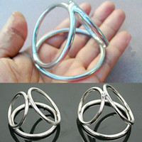 Steel   Metal Penis Ring Cock Cage The Triple Helix Enhancer Sex Delay Ring Gadget Adult Toys for men stainless steel penis testicles ring Chastity