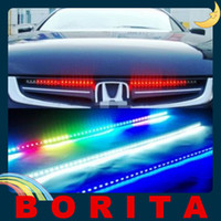 Wholesale High brightness Car Knight Rider Lights Decoration Rear Light Bar SMD LED Colors Modes V with Remote Control