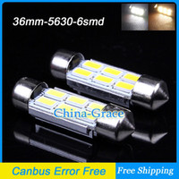 Wholesale 36mm SMD LED Canbus Error Free LED Dome Light Bulbs Car Dome Light White Warm White Festoon Light