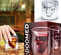 Wholesale 420pcs Crystal Skull Head Vodka Shot Glass Pirate Glasses Beer Mug ounces new cup