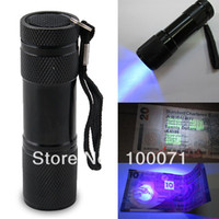 DC SMD 3528 No 2014 New Blacklight Invisible Ink Marker 9LED UV Ultra Violet Flashlight Torch Light 3AAA #47621
