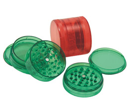 Wholesale 240pcs piece piece Acrylic Herb Grinder plastic grinder with Screen and stash mix colors