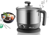Wholesale stainless steel mini electric skillet electric hot pot electric heating pot Electric boil pan