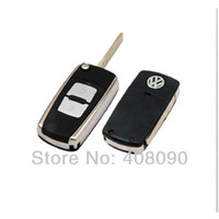 Wholesale Folding Remote Key Shell Case For VW Jetta Bora Golf Passat buttons DKT0002