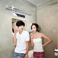 Wholesale 55cm W LED White Square Mirror Wall Mounted Toilet Light Bathroom Lamp Cabinet AC V v Stainless Steel SMD LED