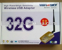 Guangdong China (Mainland) Wifly-City black High Power Wifly-City 32G 802.11b g USB2.0 network Cards Adapter Antenna 1600MW 3000M Wireless USB Adapter 2011 Latest!