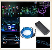 Wholesale Flexible Neon Light Waterproof LED String Lights EL Glow Wire Rope Tube With Controller For Halloween Christmas Party Decoration