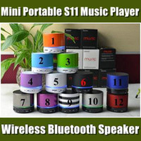 Wholesale Newest Wireless Blutooth Music Speaker S11 Bluetooth Speaker for iPad for iPhone s iphone for sumsung S3 S4 in Store BS