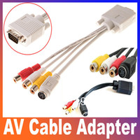 Wholesale VGA TV S Video RCA Female Composite AV Cable Adapter Converter