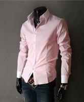 Cheap Dress Shirts gray dress Best Long Sleeve 100% Silk fit shirts