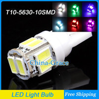 Wholesale 10PCS T10 SMD LED Door Light Car Clearance Light Bulbs W5W Marker Light More Color Drop Shipping