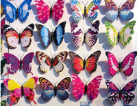 Wholesale 2014 new Artificial D Butterfly Fridge Magnet Sticker Refrigerator Magnets Home Decoration cm
