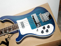 left handed bass guitar - Left Handed Bass Guitar Blue Strings Electric Bass Guitar Chinese guitar New Style