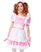 Wholesale Treasure box Women s Lolita French Maid Costume Pink Maid dress