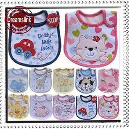 Wholesale Hot Sales Baby Bibs Burp Cloths Baby bib Infant saliva towels Baby styles Random delivery Waterproof bib Mark Baby wear