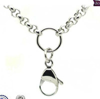 Wholesale 316L Stainless Steel Rolo Chain Necklace mm or mm Diameter For Glass Floating Memory Charm Locket Pendant