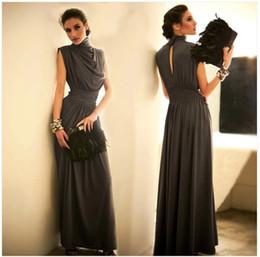 Wholesale Hot new superior quality Collar neck long wedding dress evening dress long dress costumes clothing