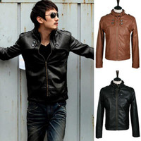 Jackets Men Leather_Like New Fashion Men Slim Short Jacket Casual Jacket Collar Men PU Leather Machine Wagon Jacket