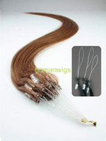 Wholesale Remy Cuticle Loop Micro Ring Human Hair Extensions g quot Auburn Custom Made
