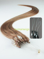 Wholesale Remy Cuticle Loop Micro Ring Human Hair Extensions g quot Light Brown Custom Made