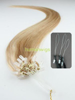 Wholesale Remy Cuticle Loop Micro Ring Human Hair Extensions g quot Dark Blonde Custom Made
