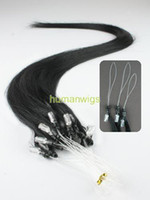 Wholesale Remy Cuticle Loop Micro Ring Human Hair Extensions g quot Custom made