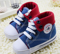 Boy Summer Cotton 23%off!Free shipping High help baby shoes,pentagram toddler shoes,newborn casual shoes,blue denim children shoes,baby wear.6pairs 12pairs
