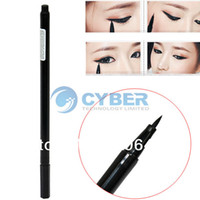 Waterproof Pencil Eyeliner Waterproof Beauty Makeup Cosmetic Liquid Eye Liner Eyeliner Pen Pencil Black Free Shipping 6546