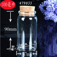 Glass Yes Gift Free shipping Wholesale 100ml Clear Glass Bottle With Cork 20pcs pack 47x90mm size Used As Gifts