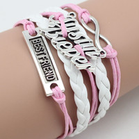 bieber bracelet - Antique Charm JUSTIN BIEBER bestfriend infinity Braided Leather Bracelets Mix Wristbands Jewelry Justin Bieber