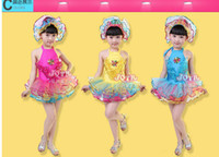 New fashion dance costumes free head flower sequined gauze c...
