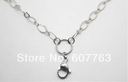 28'' 316L Stainless steel Flat Rolo Mother&Son Rolo Chain Necklace for Floating Charm Living Locket