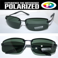 Wholesale Rimless Driver s TAC enhanced polarized polaroid polarised golf ski UV Men s sunglasses with foam bag n box