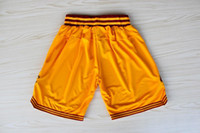 Wholesale Top Quality Revolution Swingman Men s Basketball Shorts Shorts Yellow Red Embroidery Logo Mix Order