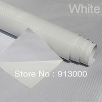 Wholesale 2pcs Hot Sale D Texture quot quot Carbon fiber Vinyl Sheet car Decal wrap Roll Sticker white