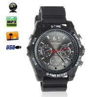 32GB Mini HD Waterproof Camera spy watch - Camcorders Wrist spy Watch GB HD P Spy Camera watch Waterproof and Night Vision Audio Video Voice Recorder SPC_329