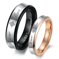 Wholesale Fashion Stainless Steel quot Forever Love quot Couples Promise Ring Mens Womens Wedding Bands