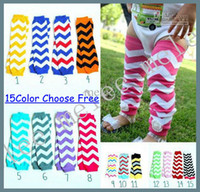 Wholesale Hot Sale New Baby Chevron Leg Warmer Baby Leg Warmers infant colorful leg warmer child socks Legging Tights Leg Warmers pc pair Melee