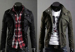 Wholesale 2014 New Men s Slim Top Designed Casual Jacket For Men Spring Outdoors Overcoat Size Colors