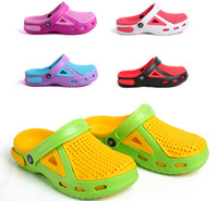 Wholesale 2014 new arrival popular garden shoes fashion beach shoes women sandals Mules amp Clogs double color slippers