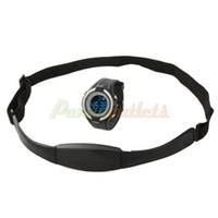 Wholesale Outdoor Multifunction Cordless Heart Rate Monitor Wrist Watch w Chest Belt Black Silver