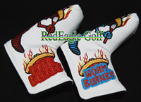 Wholesale NEW Popular Golf Clubs Head Cover Top Quality Golf Clubs Putter Cover with White color and Pretty Embroider