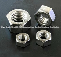 Wholesale 200pcs Metric Thread M2 Stainless Steel Hex Head Nuts Screw Nuts Hex Nuts