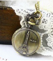 Casual classical pocket watch - Alloys classical Pocket Watch Quartz Necklace watch Pendant with cn Chain Clock XH057