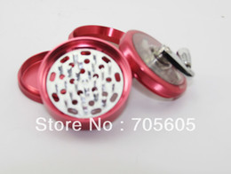 Wholesale 10pcs quot parts Aluminum CNC Grinder with handle clear top colors to the USA
